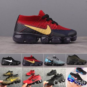 Nike Vapormax flyknit air max  Rainbow Air 2018 Style Fly 2.0 Mens Women Shoes Shock Kids Running Shoes Fashion Children Casual Sports Sneakers Shoes RTK62