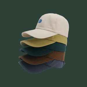mvr4x Women's soft top embroidery letter baseball men's Korean Sunscreen baseball cap hat style all-match fashionable cap small face sunscr