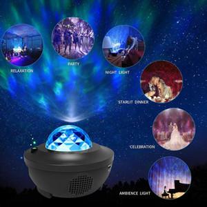 Coloré romantique Stare Starry Sky Océan Projecteur Nuit Lumière de nuit Télécommande Ocean Wave Lampe de projection avec haut-parleur de musique Bluetooth