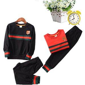 Костюма с длинным рукавом Детский костюм для мальчиков Осень с длинным рукавом Детская одежда Two Piece Set и One Piece Модные