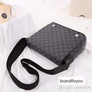 #3791 5A L DISTRICT V Men Messenger Bags Belt Portfolio Briefcases Cross Body Fashion Crossbody Shoulder Bag 40238 40072 41028 41031