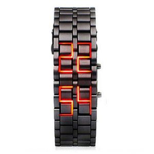 Hot sale alloy lava Electronic blue light volcano LED bracelet watch cool children's electronic watch