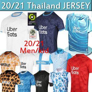 Olympique de Marseille camisa de futebol OM jerseys maillot de pé PAYET Thauvin 120 anos camisa de futebol 120º aniversário 19 20 21 thai 4xl