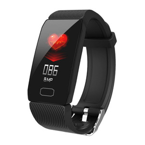 Q1 Smart Band Men Women Kids Weather Display Blood Pressure Heart Rate Monitor Fitness Tracker Smart Watch Bracelet Waterproof