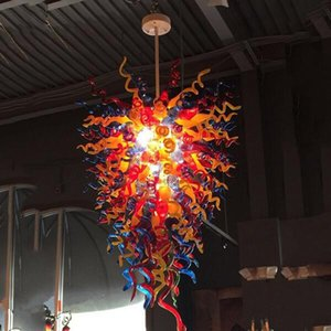 "Customer Made Lights Blown Glass Chandelier Lighting 48"" LED Bulbs Murano Glass Crystal Chandelier Pendant Light lamparas"
