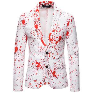 Tops para hombre 3D chapoteo de la tinta de impresión Blazers otoño nueva Navidad Traje chaqueta masculina Partido Blazer boda Escenario Prom