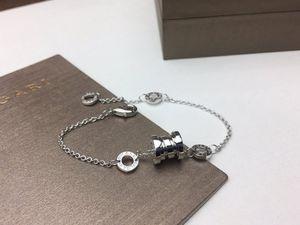 Brand B designer spring women's bracelet Jewelry 925 sterling silver high end material Classic Rose Gold   platinum Bracelet