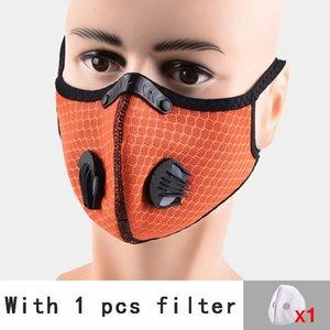 Filtro Máscara de Ciclismo de Rosto com respirador válvula PM2.5 Boca Máscara Anti Poeira Protective Outdoor Sports Outdoor Motorcycle FFA3438 bicicleta