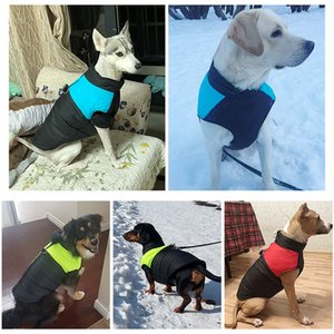 Winter Pet Dog Clothes Warm Big Dog Coat Puppy Clothing Waterproof Pet Vest Jacket For Small Medium Large Dogs Winter Warm Apparel Clothes