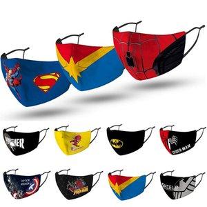 designer de máscara facial Spiderman Spiderman super-herói máscaras de moda garoto partido cosplay lavável pó reutilizável à prova de vento máscara de algodão