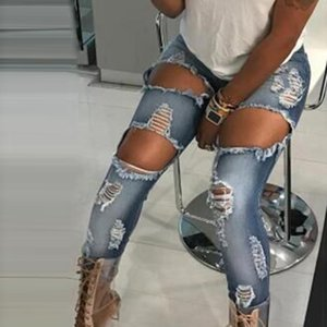 Casual Low Jeans Pencil Style Summer Long Boyfriend 2020 Pants Women Fashion Skinny Ripped Cotton Cool fall Waist Jeans Denim
