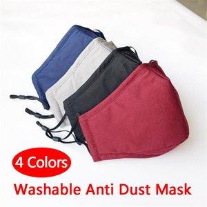 US STOCK Masque anti-poussière lavable coupe-vent bactéries bouche moufles Preuve PM2.5 Coton Masque bouche anti-buée Haze Gardez Masques chaud Soins du visage