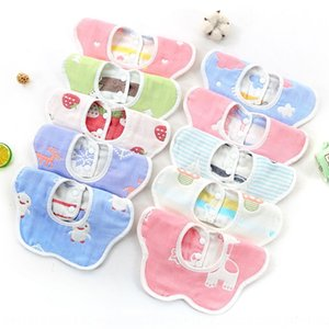 Baby button bib children's saliva-proof towel 6-layer cotton gauze 360-degree rotating petals absorbent baby Towel bibbutton bibbib