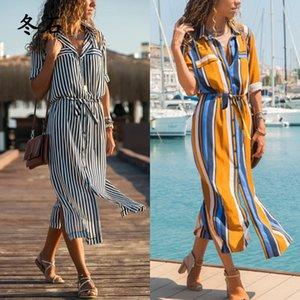 2020 Hot Spring Summer Dress Women's Boho Casual Long Maxi Dress Evening Party Beach Sundress Good For Wholesale
