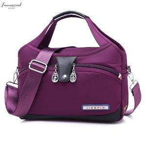 Summer New Canvas Fashion Casual Pure Single Shoulder Bag Large Capacity Canvas Bag Ladys Slanting Bag