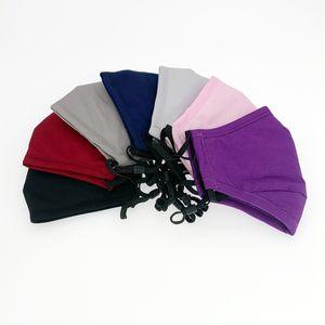 bouche lavable tissu de coton couleur unie face à la couverture PM2,5 étudiant dustroof masques de plein air pour les enfants adultes avec FFA4253 poche filtrante