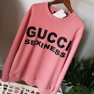 2020 Sweat à capuche en plein air marques de luxe en tricot de coton sweat à capuche womens designer Sweat-shirts en coton blanc col rond S-L 708