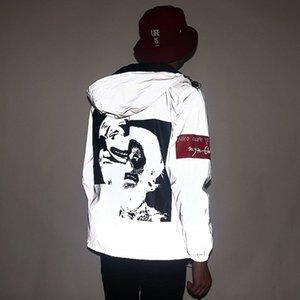 New Reflective 3m Jacke Tide Marke Männer Frauen Clown beiläufige Hiphop Windjacke Nacht Paar Mantel mit Kapuze Fluoreszierende Kleidung CX200730