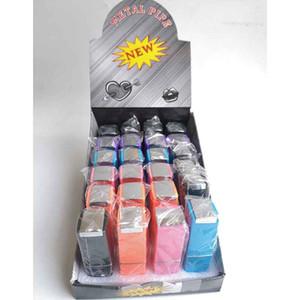 Mini Lippenstift Raucherpfeife Tabak Metall Kräuter Zigarette Magische Handfilterrohre Hohl 5 Farben 2 Arten Zubehör Werkzeuge Öl Rigs