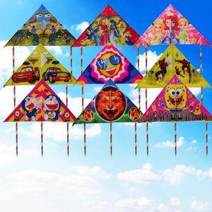 Weifang 80 straight edge Weifang 80 straight side triangle small customization kite children's cartoon triangle small kite customized