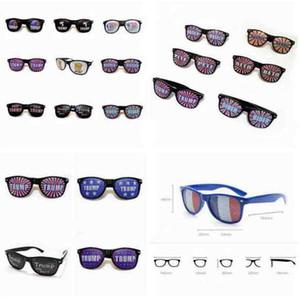 Donald Trump Sunglasses 2020 American President Election Supplies Rice Nail Sunglasses Plastic Sports Sunglasses Party Favor ZZA2270 200Pcs