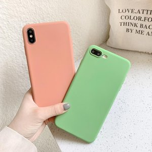 Silicone Phone Case For iPhone 11 Pro Max X XR Solid Color Soft Cover on for iPhone 6 6S 7 8 Plus SE 2020 wholesale