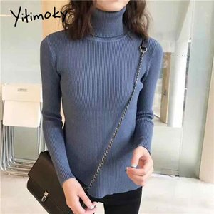 turtleneck knit sweater women winter clothes pullover korean top Solid soft casual elastic Basic Slim female Long Sleeve warm