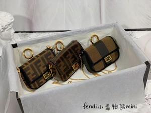 high quality 2020 new style women cute mini key chain bag FF handbag lady mini shoulder bags crossbody messenger bags Purses with box