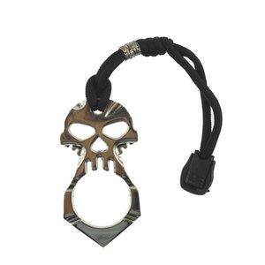 Escape de cráneo llavero de emergencia Broken Chain ventana Clave GGA3564 llavero herramienta de autodefensa de supervivencia al aire libre llaveros