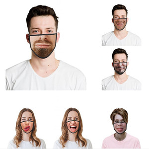 Funny Adult Face Mask 3D Emoticons Personality Masks Dustproof Hazeproof Breathable Reusable Protective Masks YYA203