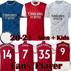 2019 2020 Arsenal Top Home Rot Fußball Trikots Auswärts Gelb MARTINELLI AUBAMEYANG TORREIRA Fußball Trikot 3. Marine maillot OZIL XHAKA LACAZETTE Fußball Kids Kits 19 20 Tops