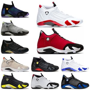 Nike Air Jordan 14 Retro 14 del bastón de caramelo baloncesto de los hombres zapatos 14s El último disparo de arena del desierto Negro Trainer Atléticos Deportes
