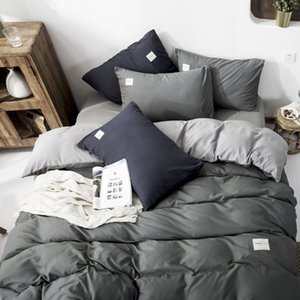 New Arrival Home Textil Classical Double sided Bed Linings Concise Style Bedding Set Quilt Cover Pillowcase Cover Bed 4pcs set