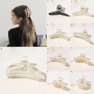 Fashion Black White Strass Haarnadel für Frauen Perlen-Haar-Clips Claws Für Mädchen Barrettes Mützen Haar PINs Zubehör