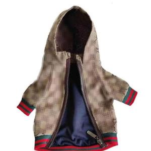 Весна Ретро Письмо Pet Жакеты Классический вышивки Pattern пальто Открытый Личность Charm Тедди шнауцеры Одежда