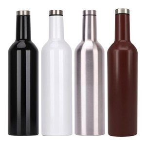 Stainless steel cup 25oz Vacuum Insulated Double Walled Wine Bottle Vacuum Flask Hip lask with a Screw Top Leak Proof Lid LXL750