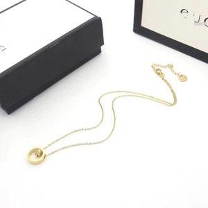 Top sales designer jewelry love necklace 18-Karat gold screw brandgûccì necklace luxury gift box woman lover 3 color pendant