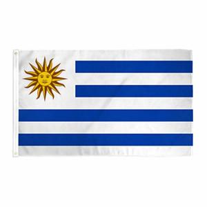 Livraison gratuite En stock 3x5ft 90x150cm Hanging URY UY Uruguay Artigas Treinta y Tres et Drapeau Bannière pour la décoration de la célébration