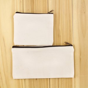 Blank painting Storage zipper zipper bag creative printing coin purse universal canvas pencil storage bag