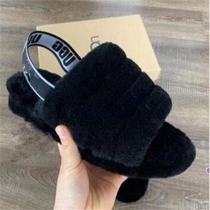 New Fashion Women Mens Furry Slippers Fur Sandal Designer Platform Wedges Heels Sandals Slipper Flip Flops Sandal Oh Fluff Yeah Slides