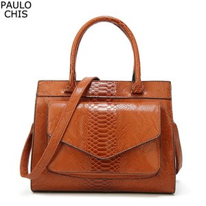 CHISPAULO Vintage Brand Женщины сумка Аллигатор Кожа PU Роскошные сумки конструктора Женщины Сумка женские сумки Feminina