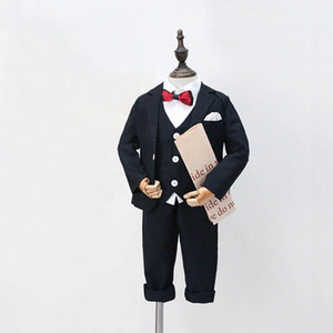 Boys small suit boys tuxedo children suit flower girl dress suits formal suits for weddings casual British style UJ3L#