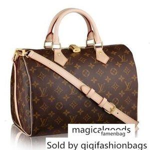 30 41112 Speedy Bandouliere M Women Shows Shoulder Totes Handbags Top Handles Cross Body Messenger Bags