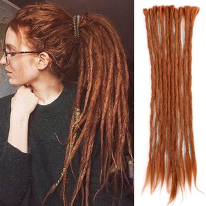 20 Inch For Rock&Roll Hippie 10 Strands Pack Synthetic Crochet Style Braiding Hair Handmade Dreadlocks Extensions Crochet Braids Reggae Hair