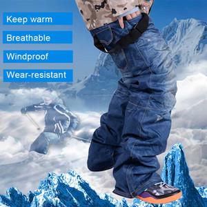 Pantaloni Sci Uomo traspirante caldi pantaloni Sci Snowboard Pant Denim bretelle antivento esterna impermeabile Sport Sci pantaloni