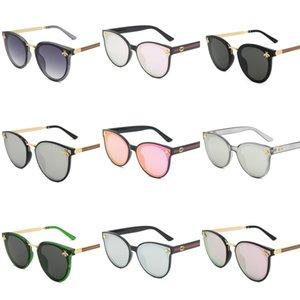 2020 Popüler Moda Spor Güneş Rimless Şeffaf Gözlük Erkek Gözlük Altın Gümüş Metal Çerçeve Buffalo Horn Gözlük ile ve # 946