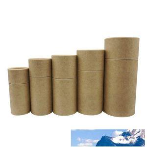 Prima de la caja de cartón Kraft Tubos Caja de embalaje caja de regalo de Kraft de 10 ml botella de aceite esencial - 100ml
