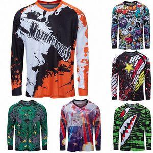 2020 2020 Motocross Jersey Downhill Camiseta Ropa MTB Manica lunga Moto Jersey Mountain Bike DH Shirt MX Abbigliamento moto MLNO #