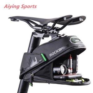 Aiying Spor Yağmur suyuna dayanıklı Bisiklet Çantası Darbeye Bisiklet Saddle Bag İçin Refletive Arka Büyük Capatity Seatpost MTB Bisiklet Çanta Aksesuarları