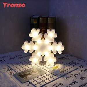 Tronzo New Year 3D Christmas Lights Outdoor Christmas Decorations For Home 2018 Night Light Reindeer Snowflake Lights